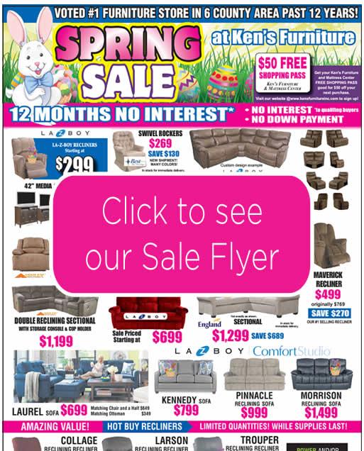 Ken's Furniture Spring Sale Ad