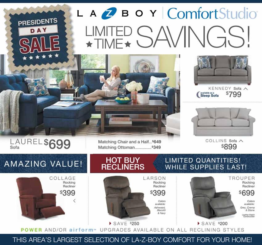 La-Z-Boy Presidents Day Sale ad