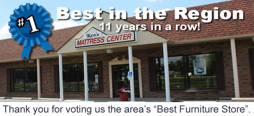 Ken's Furniture. Voted the area's best furniture store.