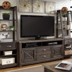 Heatherbrook Entertainment Center with Piers