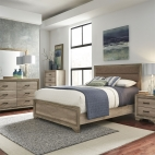 Sun Valley Upholstered Bed, Dresser & Mirror, Chest, NS