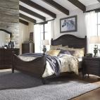 Catawba Hills Poster Bed, Dresser & Mirror, Chest, NS