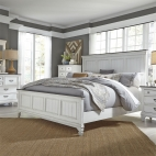 Allyson Park Panel Bed, Dresser & Mirror, Chest, NS