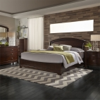 Avalon Panel Bed, Dresser & Mirror, Chest, NS