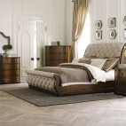 Cotswold Sleigh Bed, Dresser & Mirror, Chest, NS