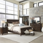 Saddlebrook Panel Bed, Dresser & Mirror, Chest, NS