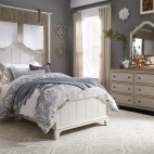Farmhouse Reimagined Youth Panel Bed, Dresser & Mirror