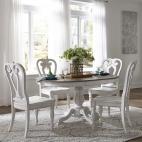 Magnolia Manor 5 Piece Pedestal Table Set