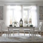 Magnolia Manor 5 Piece Leg Table Set