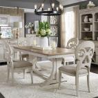 Farmhouse Reimagined 5 Piece Trestle Table Set
