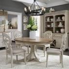 Farmhouse Reimagined 5 Piece Pedestal Table Set